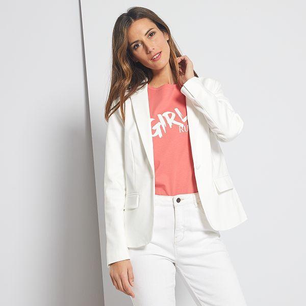 kiabi veste blanc femme