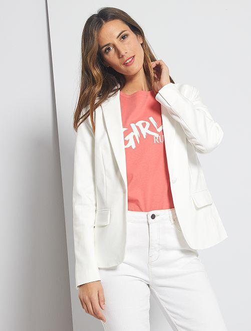 Veste de tailleur                                                     blanc