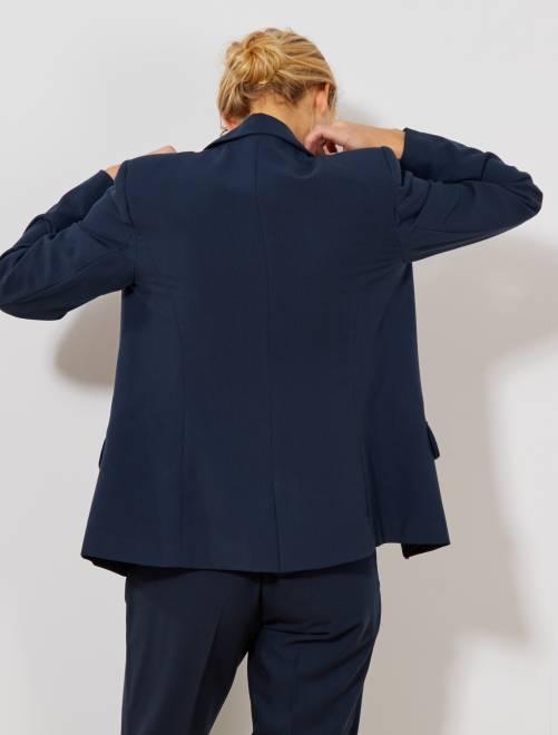 veste de tailleur femme bleu marine kiabi 25 00. Black Bedroom Furniture Sets. Home Design Ideas