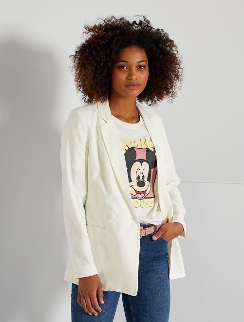 Veste de tailleur double boutonnage                                                     blanc