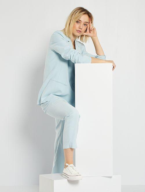 Veste de tailleur double boutonnage                                                                             bleu ciel
