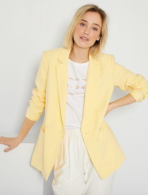 Veste de tailleur double boutonnage                                                                             jaune doux