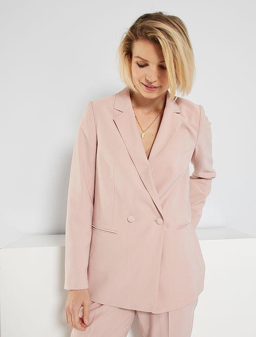 Veste de tailleur double boutonnage                                                                 rose