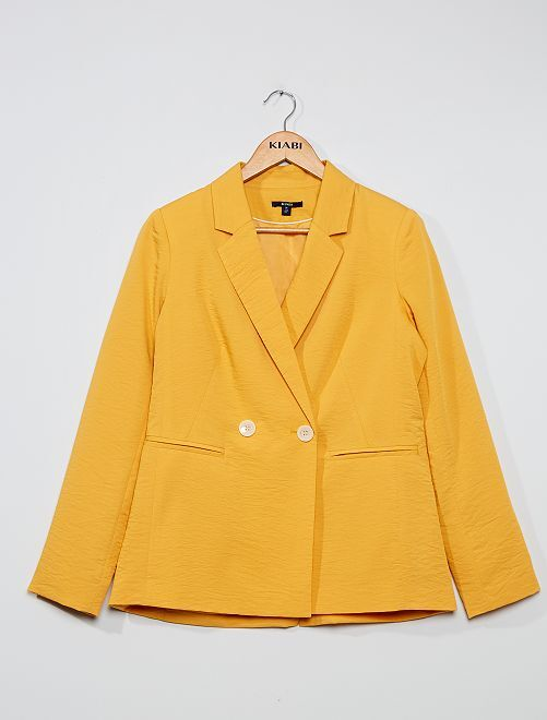 Veste de tailleur effet froissé                                         jaune
