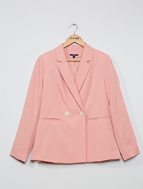 Veste de tailleur effet froissé                                         rose