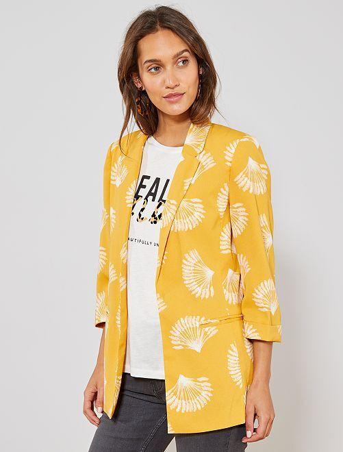 Veste de tailleur imprimée                             jaune Femme