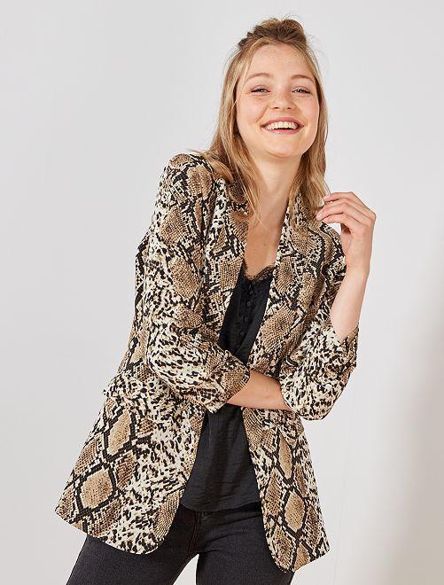 Veste de tailleur python                             marron Femme