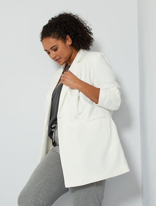 Veste double boutonnage                                                     blanc