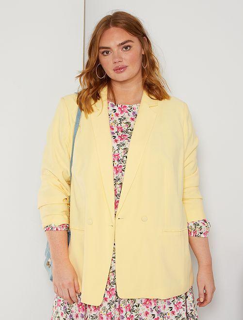 Veste double boutonnage                                         jaune doux