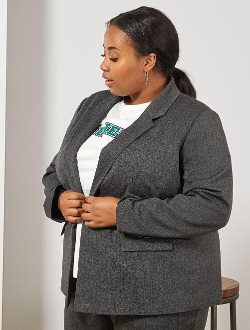 Veste effet lainage                                         gris foncé Grande taille femme