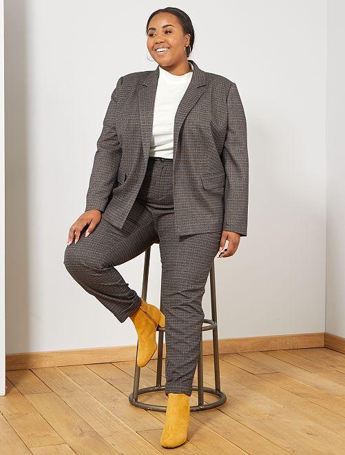 Veste effet lainage                                         noir Grande taille femme