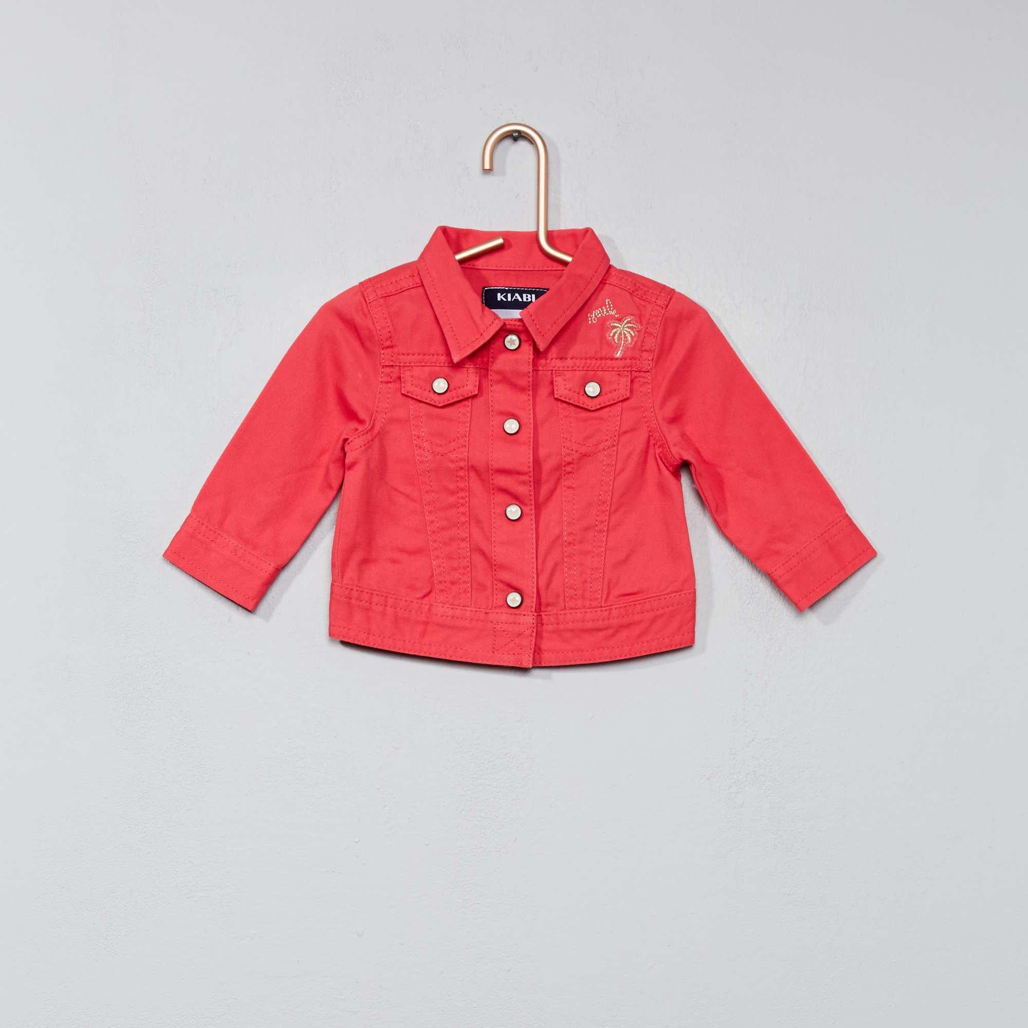 Couleur : rose, , ,, - Taille : 6M, , ,,Lookée comme les grandes ! - Veste en coton - Ouverture devant pressionnée - Bout