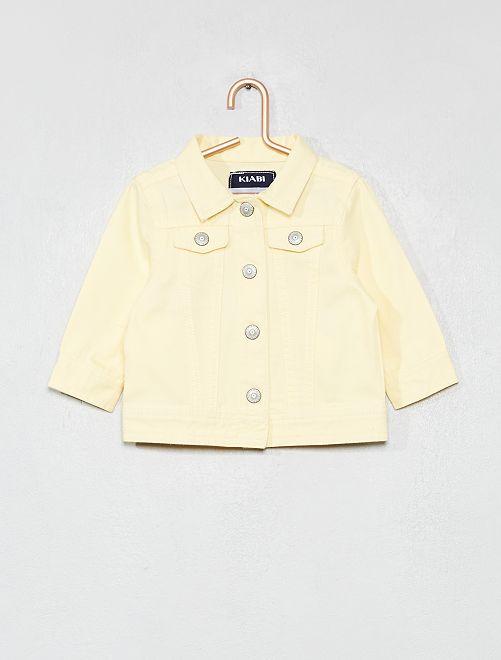 Veste en coton boutonnée                                         jaune Bébé fille