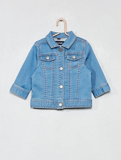 Veste en jean à pressions                             stone Bébé fille