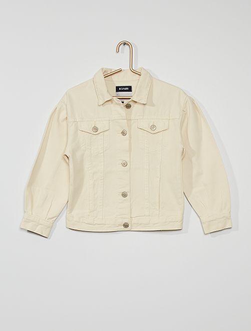 Veste en jean coloré                                                                 blanc cassé