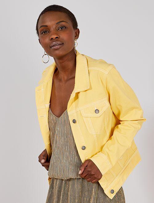 Veste en jean coloré                                                                 jaune Femme