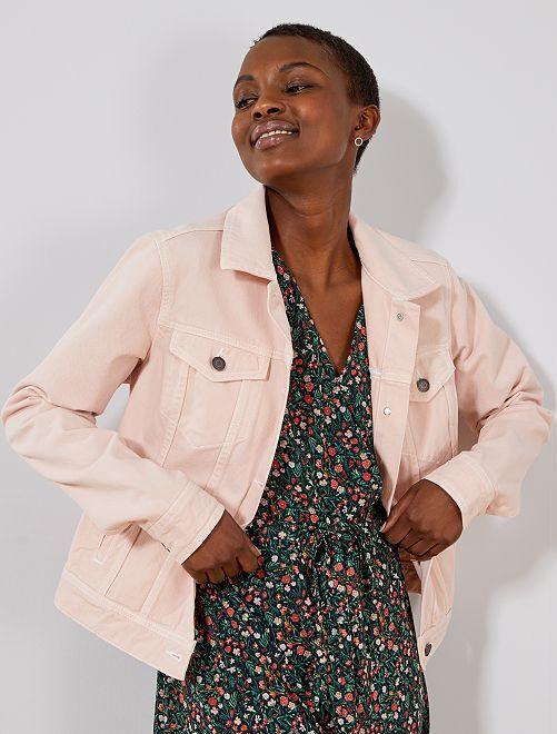 Veste en jean coloré                                                                 rose Femme