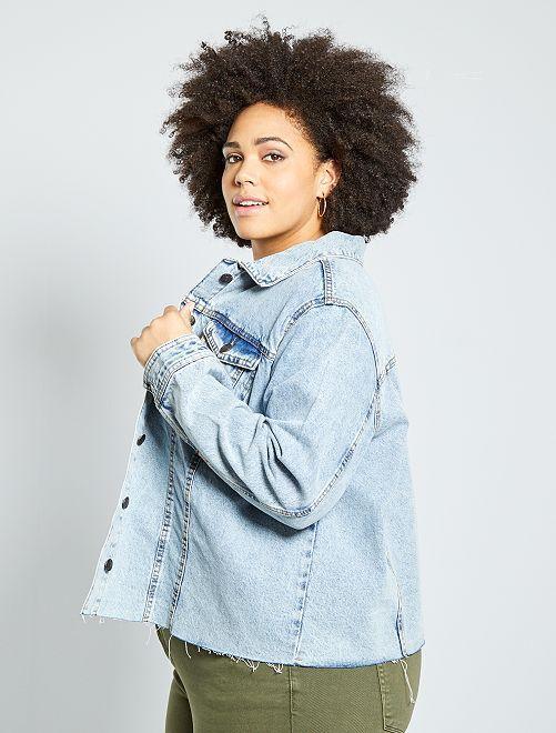 Veste en jean finition à cru                                         bleu