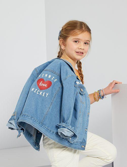 Veste en jean imprimée 'Minnie'                             bleu