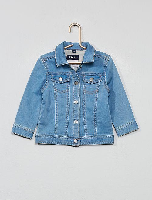 Veste en jean maille confort                             stone Bébé fille