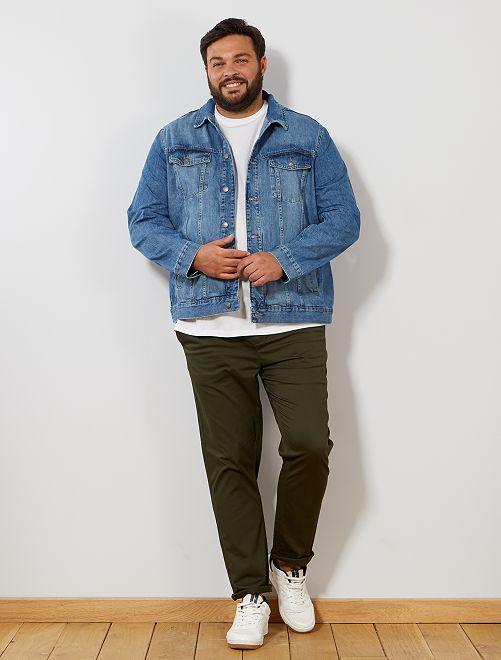 Veste en jean                             stone Grande taille homme