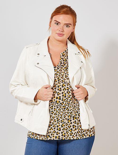 Veste en simili                             blanc Grande taille femme