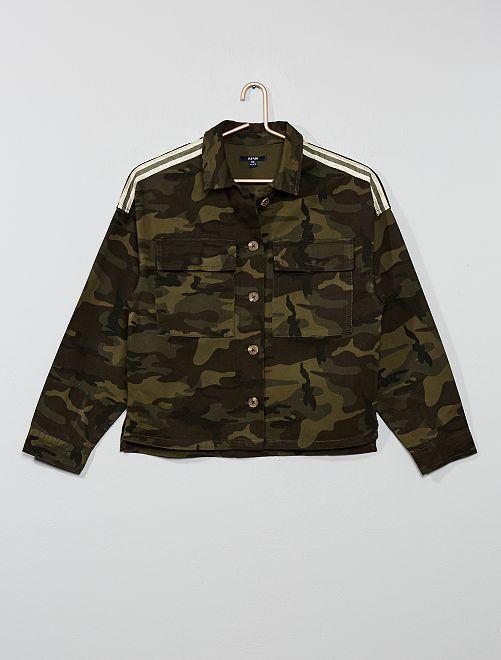 Veste en toile style army                                         kaki camouflage Fille adolescente