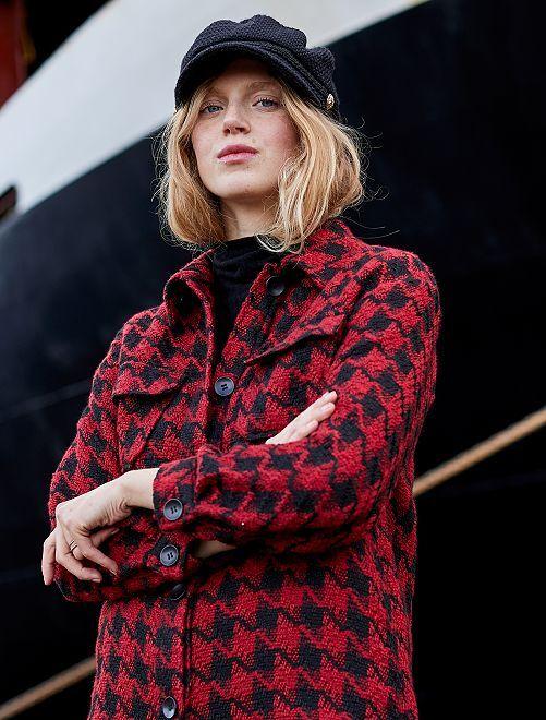 Veste en tweed                             rouge