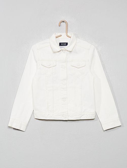 Veste en twill                                                                             blanc