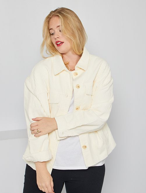 Veste en velours                             blanc