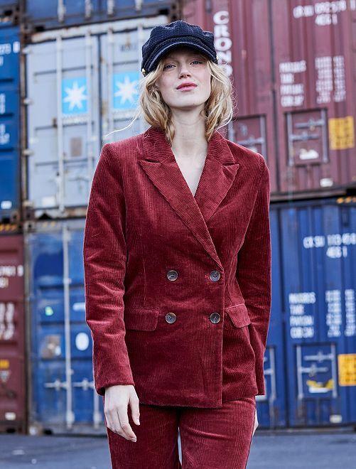 Veste en velours côtelé                             rouge
