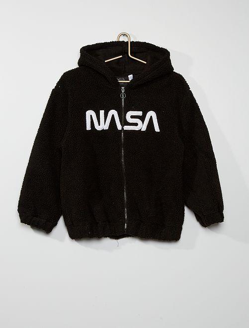 Veste 'Nasa' en sherpa                             noir