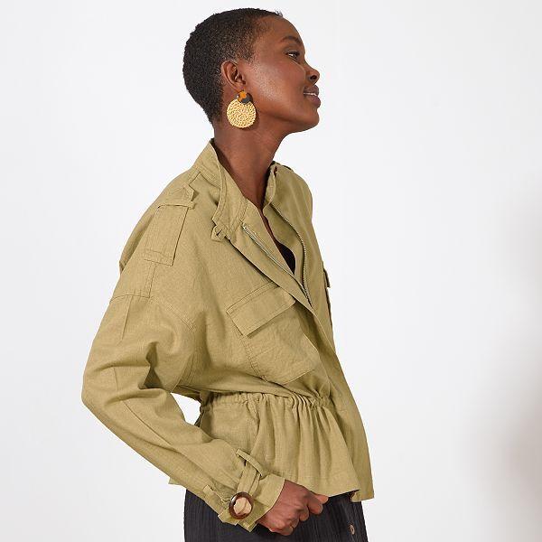 Model de veste femme en pagne