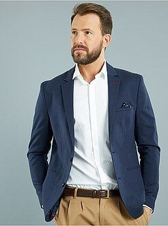 Homme du S au XXL Veste slim armurée en coton piqué