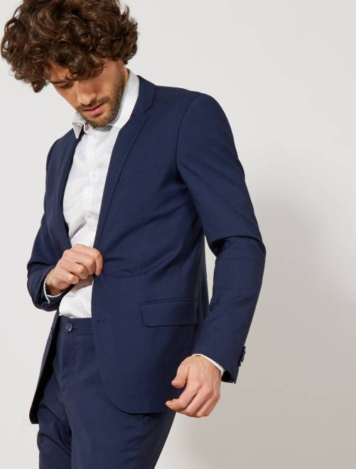 Veste slim stretch                             bleu Homme