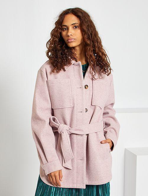Veste style lainage à grandes poches                                                                 rose