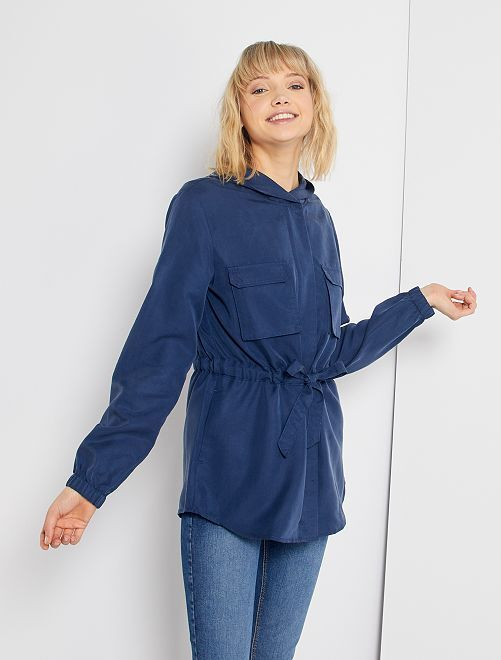 Veste style saharienne                             bleu