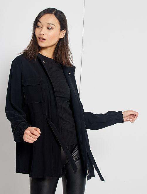 Veste style saharienne                                         noir