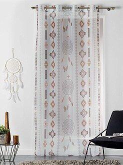 Déco textile - Voilage imprimé 'attrape-rêves' - Kiabi